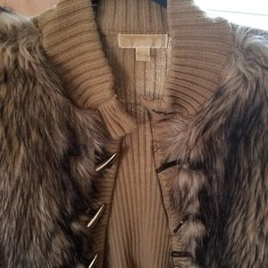 Michael Kors Sweaters - Michael Kors fur trimmed sweater vest